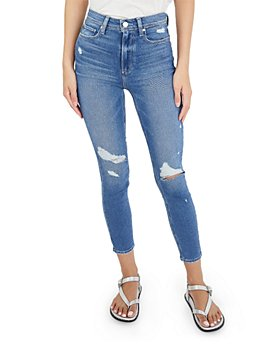 PAIGE - Margot Cropped Skinny Jeans in Baazar Destructed