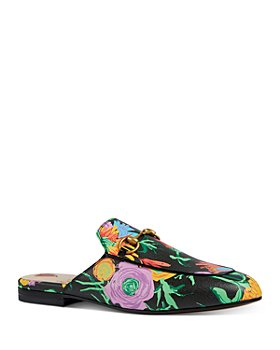 Gucci - Women's Princetown Floral Print Mules