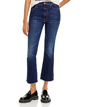 MOTHER - The Hustler Ankle Fray Flared Jeans in Teaming Up