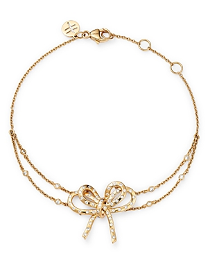Hueb 18K Yellow Gold Romance Diamond Bow Bracelet