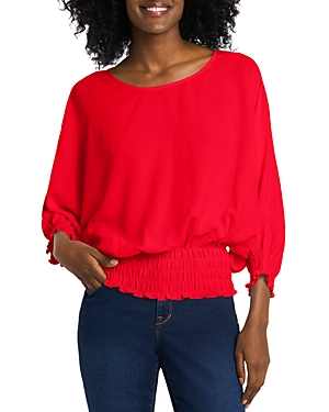 VINCE CAMUTO SMOCKED DOLMAN SLEEVE TOP