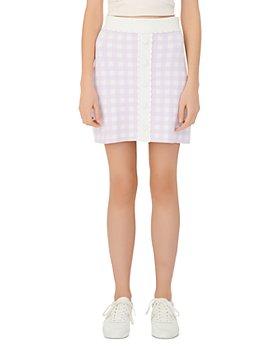 Maje - Jimmy Checked Knit Mini Skirt