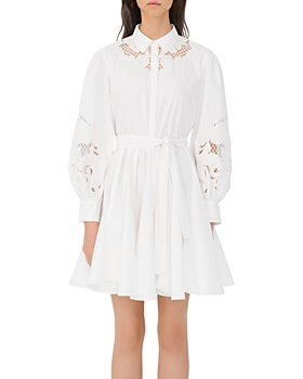 Maje - Rebello Cotton Lace Inset Shirt Dress