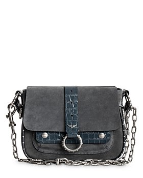 Zadig & Voltaire - Kate Suede & Embossed Leather Satchel