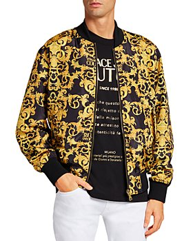 Versace Jeans Couture - Logo Baroque Print Reversible Bomber Jacket