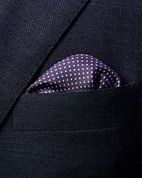 Eton - Polka Dot Silk Pocket Square