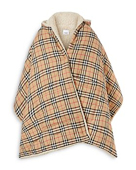 Burberry - Fleece-Lined Vintage Check Hooded Cape