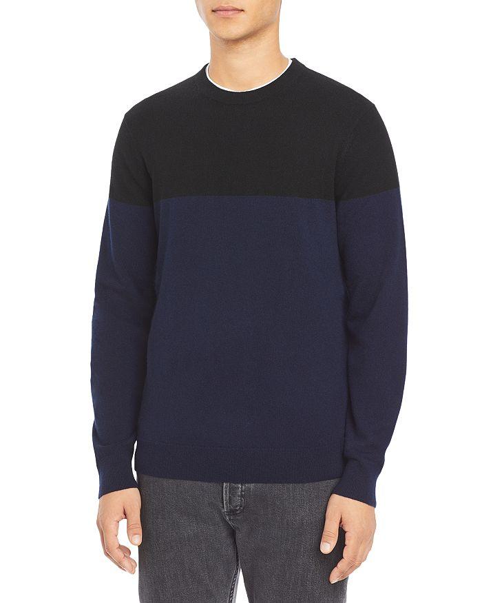 Theory - Color Blocked Cashmere Sweater
