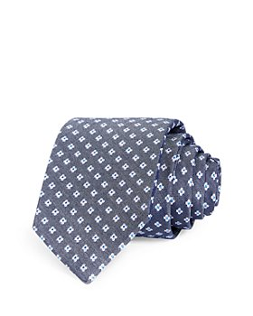 The Men's Store at Bloomingdale's - Medallion Grid Neat Silk Classic Tie - 100% Exclusive