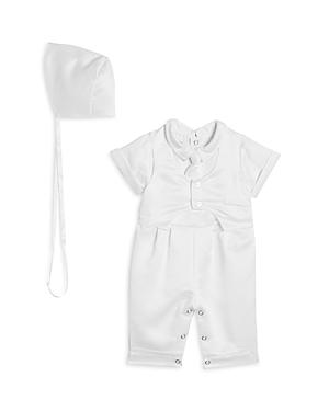 Pippa & Julie Boys' Christening Vest, Romper & Bonnet Set - Baby