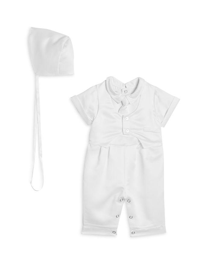 Pippa & Julie Boys' Christening Vest, Romper & Bonnet Set - Baby  | Bloomingdale's