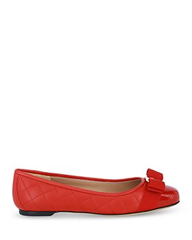 Salvatore Ferragamo - Women's Varina Quilted Leather Cap Toe Ballet Flats (41% off) - Comparable value $595