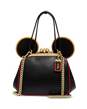 COACH - Mickey Mouse x Keith Haring Kisslock Mini Leather Handbag