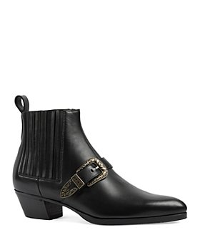 Gucci - Men's Zahara Buckle Detail Ankle Boots