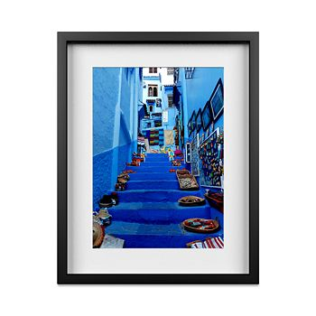 """Whom Home - Blue Stairway Wall Art, 16"""" x 20"""""""