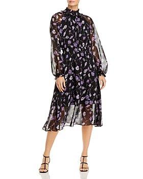 AQUA - Floral Midi Dress - 100% Exclusive