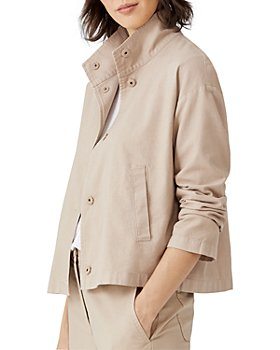 Eileen Fisher - Stand Collar Cropped Jacket