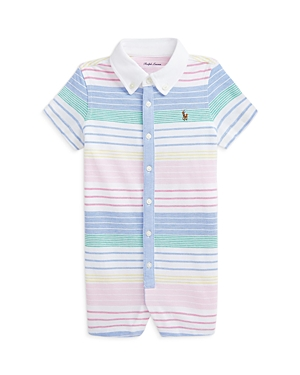 Ralph Lauren POLO RALPH LAUREN BOYS' COTTON STRIPED SHORTALLS - BABY