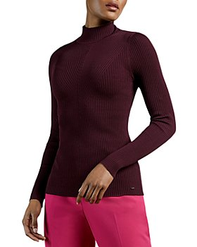 Ted Baker - Ribbed Mock Neck Sweater