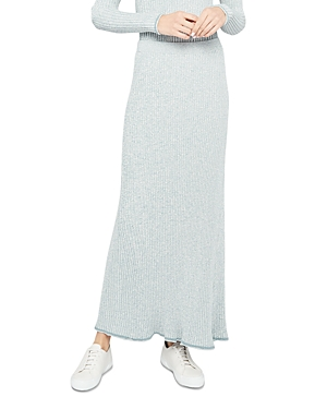 Theory Mouline Ribbed Compact Knit Skirt