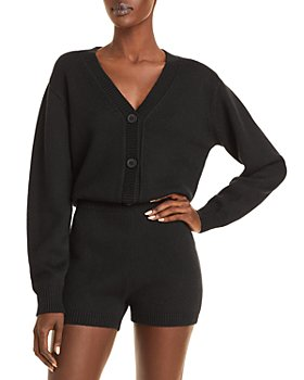 AQUA - Knit Button Front Romper - 100% Exclusive