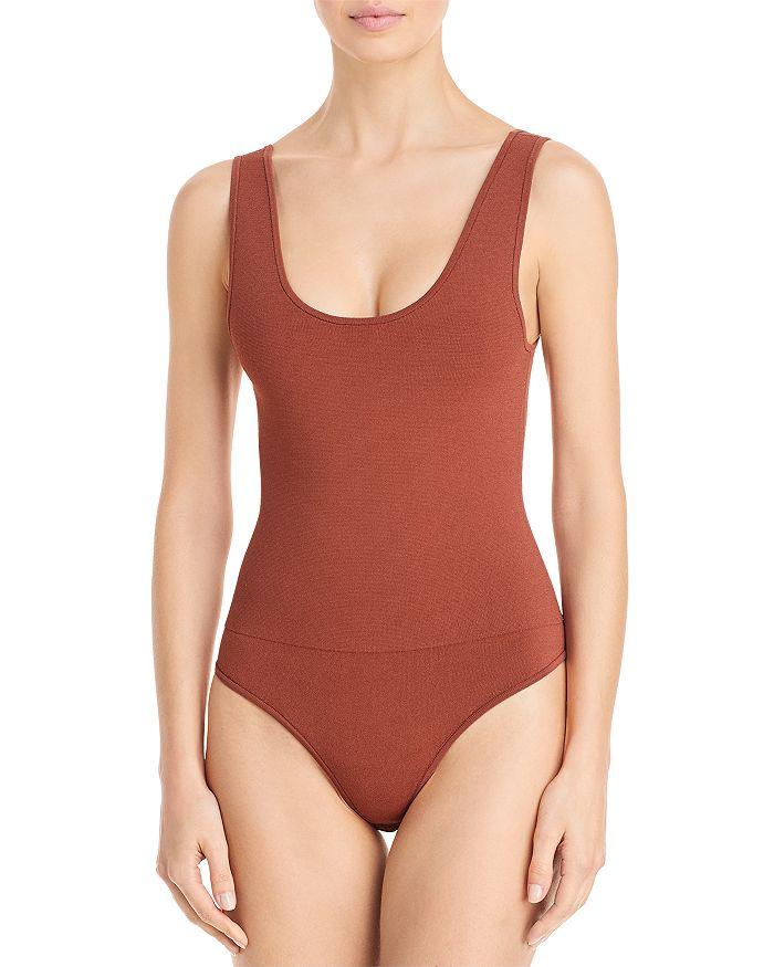 A.L.C Bodysuits MOLLIE SCOOP NECK THONG BODYSUIT