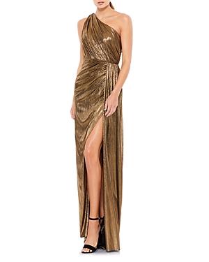 Mac Duggal Metallic One-Shoulder Gown-Women