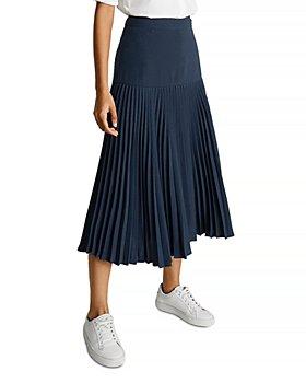 REISS - Davina Panel Pleated Skirt