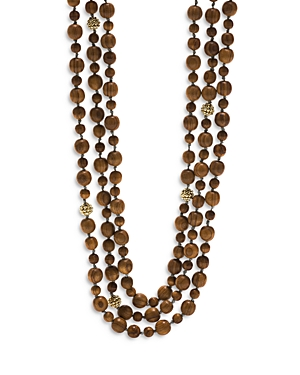 Earth Goddess Triple Strand Bead Necklace