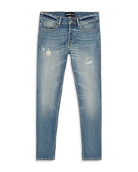 The Kooples - Faded Ripped Jeans in Blue