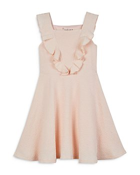 Pippa & Julie - Girls' Pebbled Flutter Sleeve Dress - Big Kid