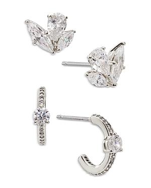 Nadri Leah Hoop and Stud Earrings, Set of 2
