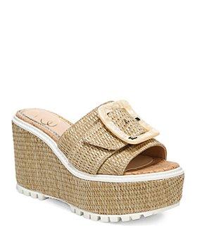 Sam Edelman - Women's Livi Buckle Platform Wedge Espadrille Sandals