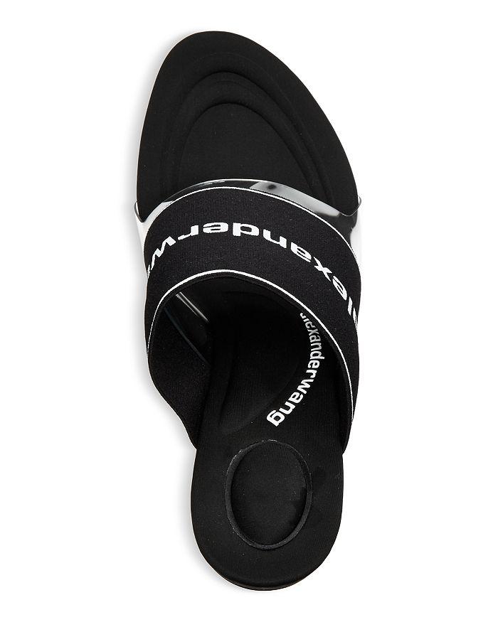 ALEXANDER WANG Sandals WOMEN'S SIENNA LOGO STRETCH HIGH HEEL SANDALS