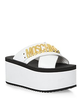 Moschino - Women's Logo Platform Slide Sandals