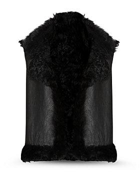 ALLSAINTS - Leather Shearling Vest