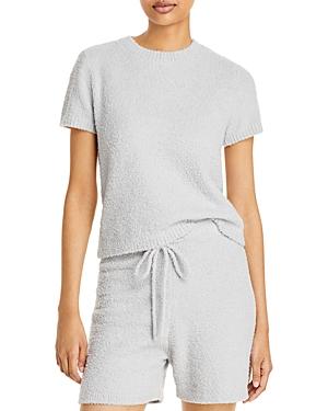 Aqua Fuzzy Short Sleeve Sweater - 100% Exclusive