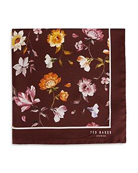 Ted Baker - Bold Floral Print Silk Pocket Square