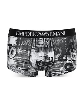 Armani - Cotton Blend Graffiti Graphic Print Trunks