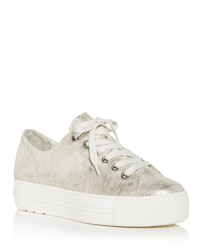 Paul Green Platforms WOMEN'S BIXBY LOW TOP PLATFORM SNEAKERS