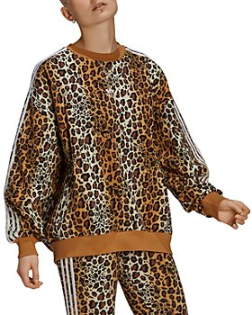 Adidas - Crew Leopard Print Sweatshirt