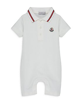 Moncler - Boys' Pagliaccetto Cotton Blend Polo Romper - Baby