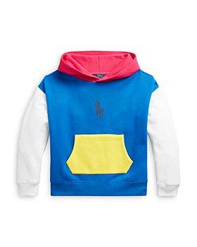 Ralph Lauren - Girls' Color Block Hoodie - Little Kid, Big Kid