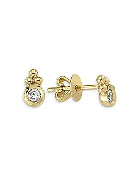 OWN YOUR STORY - 14K Yellow Gold Harmony Diamond Stud Earrings