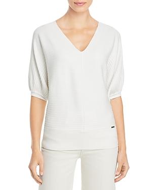 T Tahari Rib Knit Dolman Sleeve Sweater