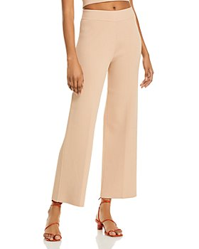 AQUA - Ribbed Wide Leg Pants - 100% Exclusive