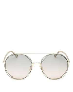 Chloé Sunglasses WOMEN'S BROW BAR ROUND SUNGLASSES, 57MM