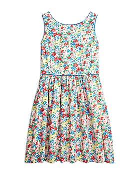 Ralph Lauren - Girls' Cotton Floral Sleeveless Dress - Little Kid, Big Kid