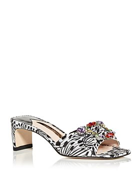 Sophia Webster - Women's Margaux Embellished Mid Heel Slide Sandals