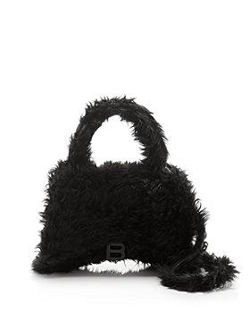 Balenciaga - Hourglass Medium Fluffy Top Handle Bag